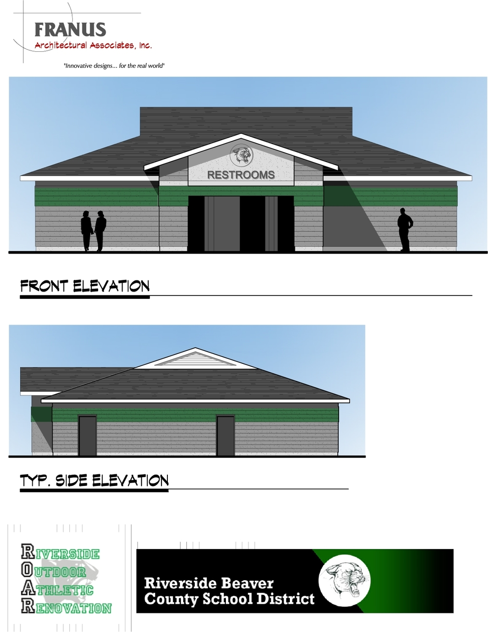 Riverside (Beaver County) Field House Elevation