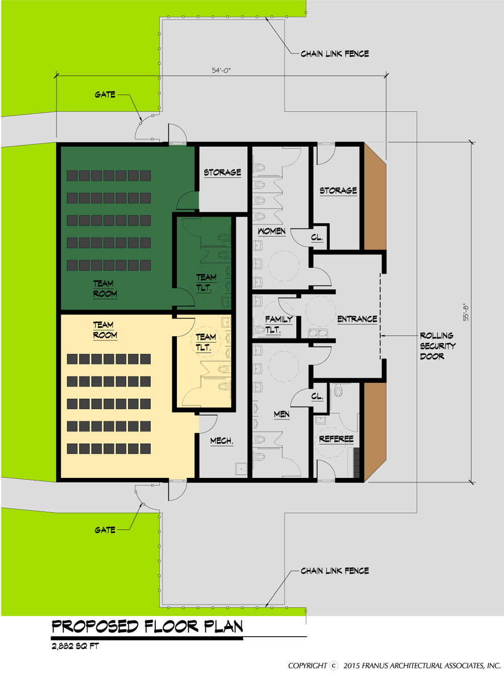 Riverside (Beaver County) Field House Floor Plan