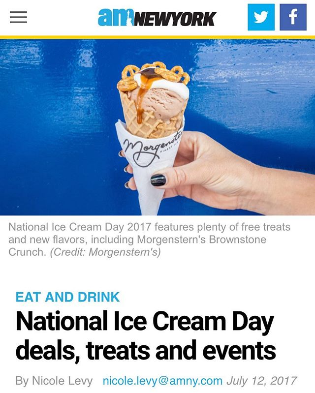Sunday funday epitomized! Stop by @morgensternsnyc anytime this weekend and donate $1 or more to @winnyc_org and you'll get this limited edition collab flavor with @streeteasy : The Brownstone Crunch! The best part? Streeteasy will match your donation. So do good this #NationalIceCreamDay and help women in need AND yourself to some ice cream! Read more in the bio👆🏼 #womeninneed #winnyc #streeteasy #morgensterns