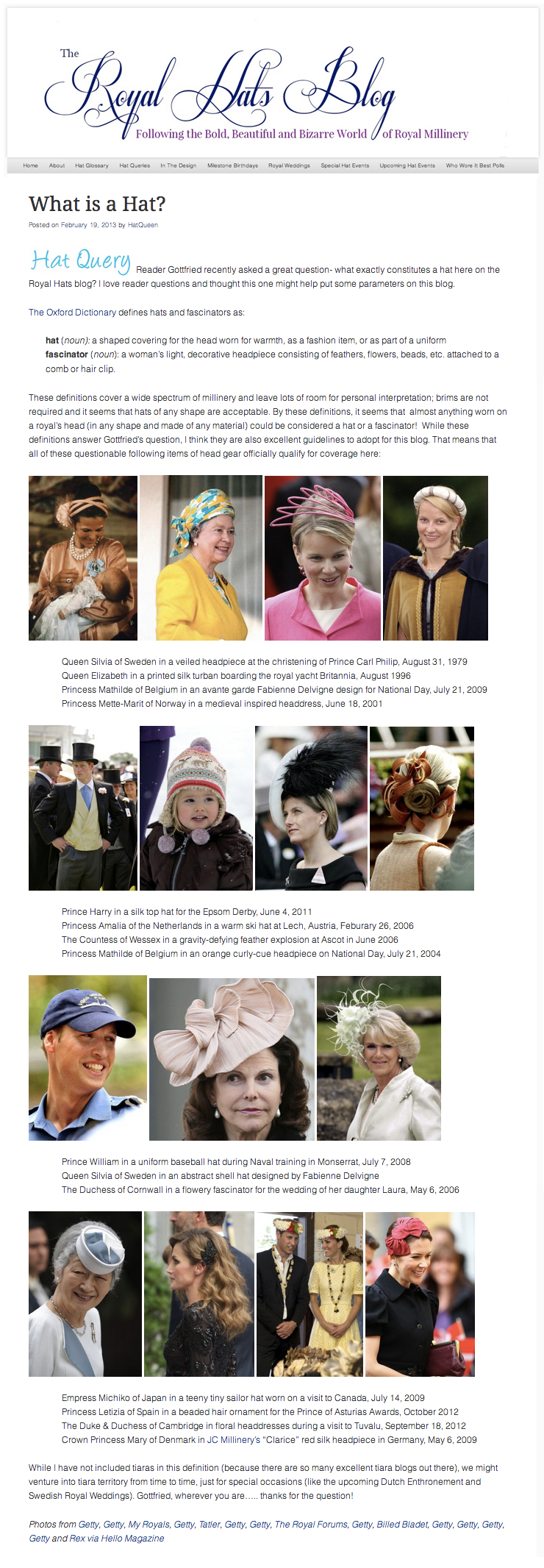 The Royal Hats Blog  / February 2013