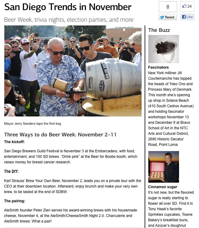 San Diego Magazine  / November 2012