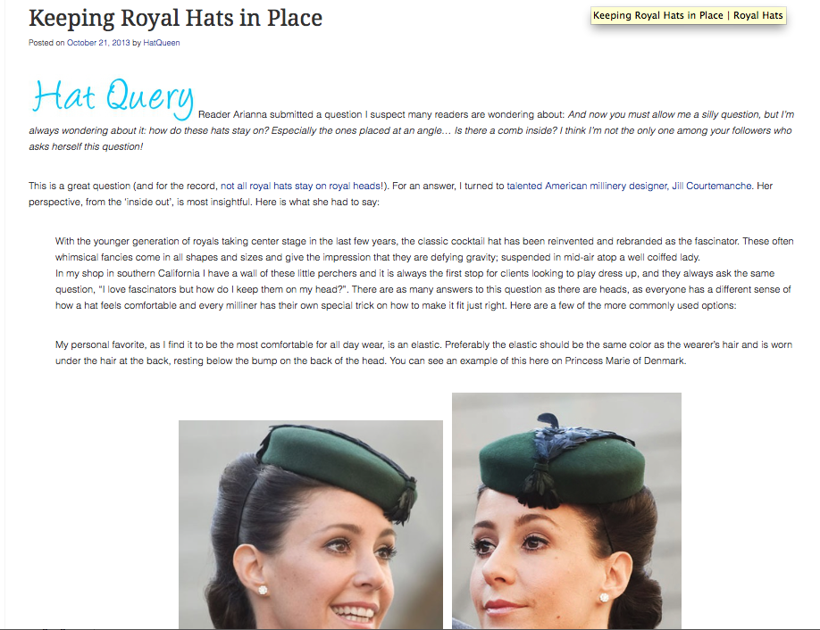 The Royal Hats Blog  / October 2013