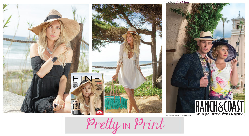 "Shop the looks! From the June issue of FINE Magazine, our ""Le Vague"" and ""Cedros"" Fedoras, and from the July issue of Ranch & Coast Magazine, the ""Jolie Femme"" and ""Swaggy"" Fedora."