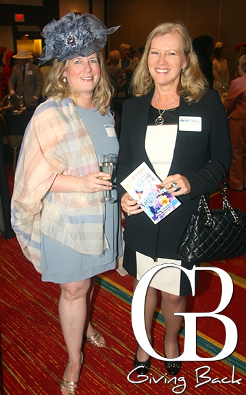 Jill with Leslie Gladstone from Angel's Foster Family Network as pictured in Giving Back Magazine