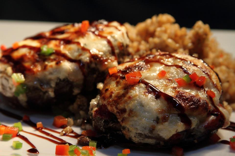 Roasted Stuffed Portabella Mushrooms