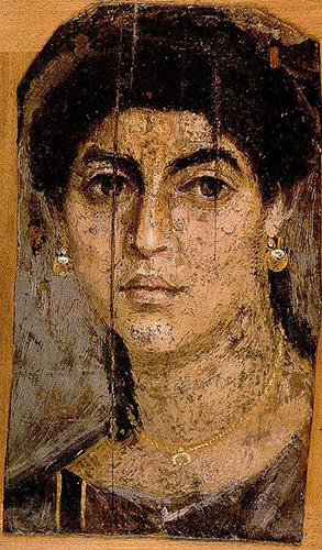 Fayum burial portrait, around 1st century  BCE