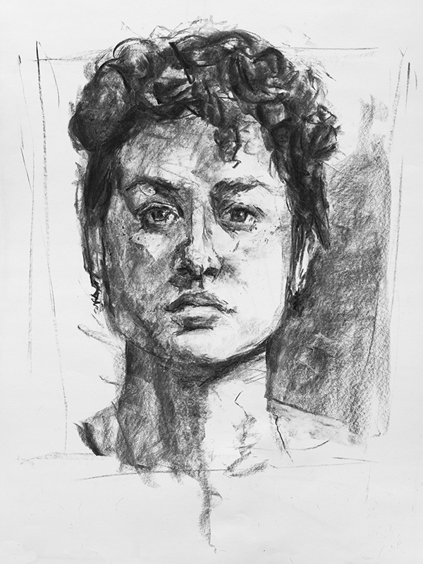 """Caroline"" - 11"" x 17"" charcoal on paper, from life. 2014"