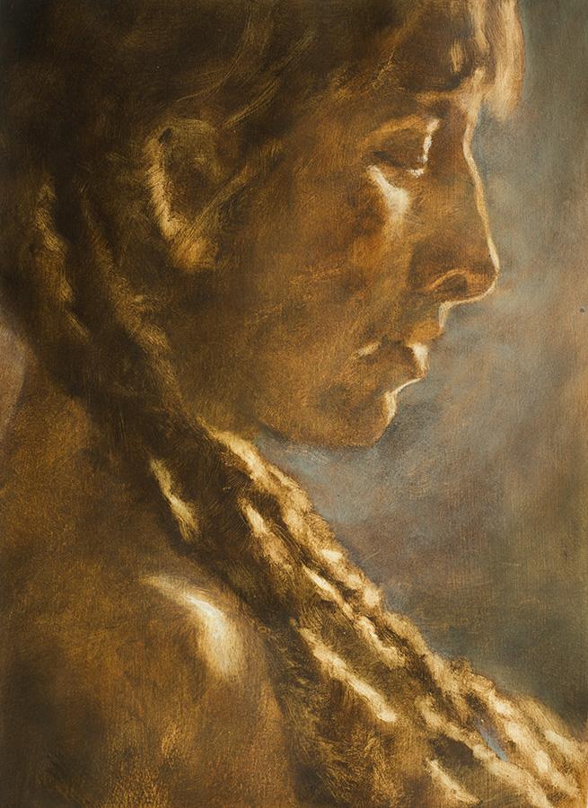 "(Sold) ""Dark Mornings pt. 2"" - 11"" x 17"" oil on primed paper, from life. 2015"
