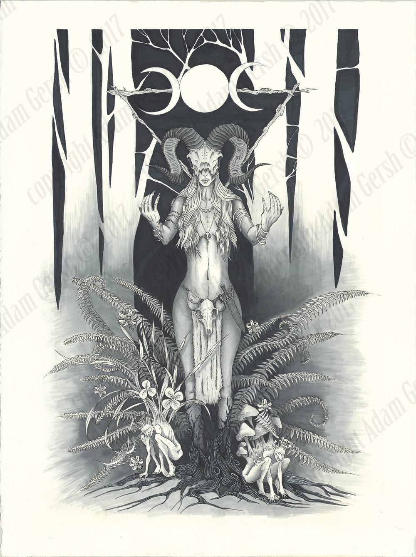 Goddess Tattoo commission, 2016