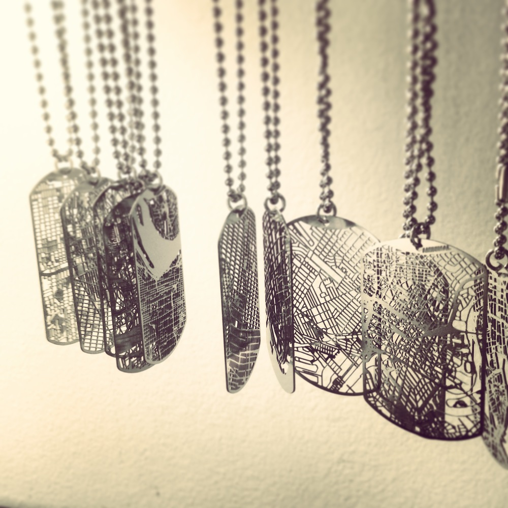 Urban Gridded Dog Tags