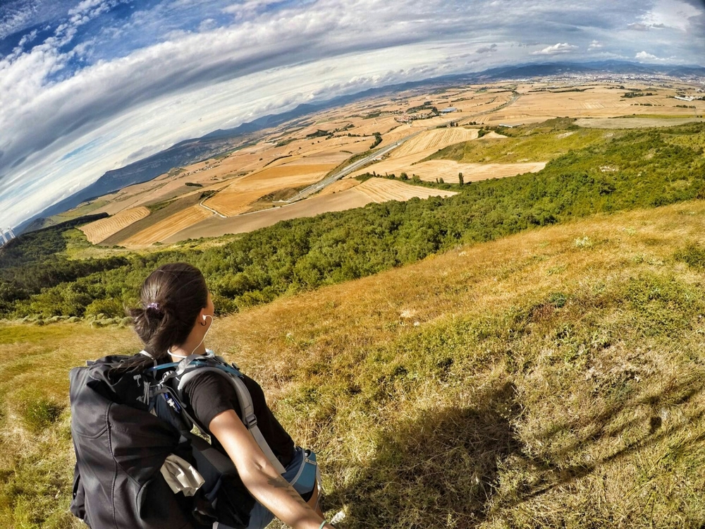 """day 1 of my walk at the top of """"la loma del perdon"""" just outside Puente de reina, Spain"""