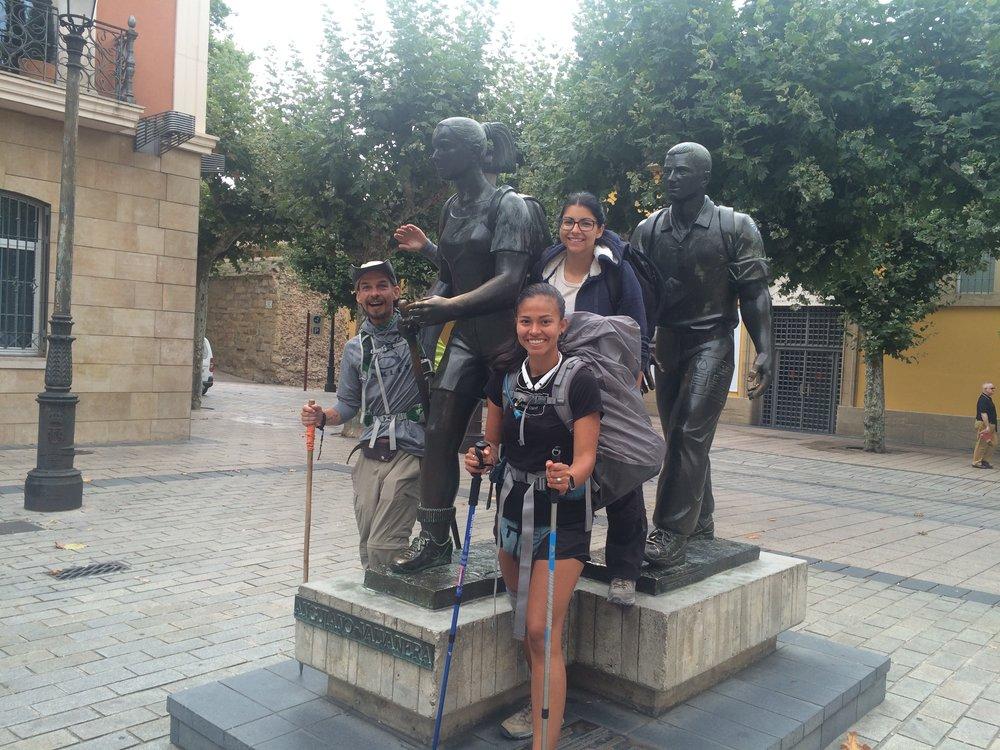 Taking that walk was life changing.                                      Logroño, Spain.