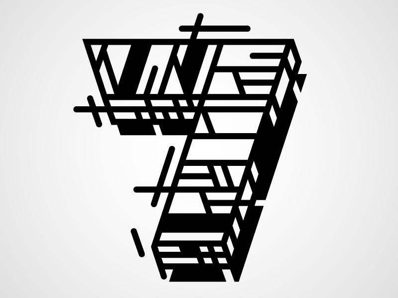 lettersnumbersandglyphs :     Seven