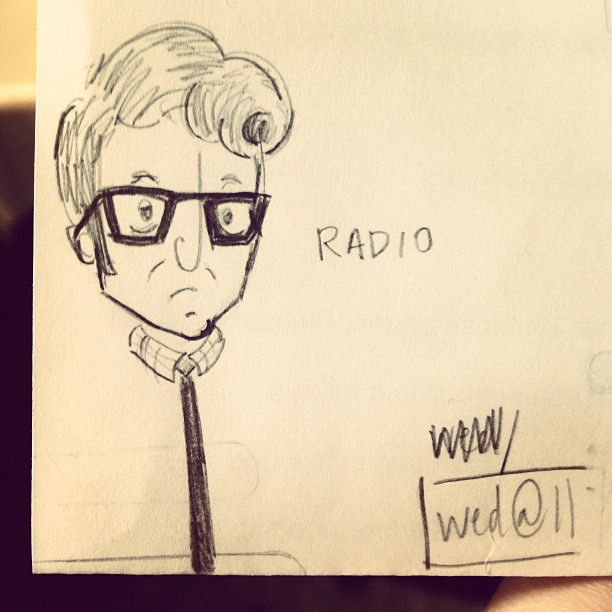 Elvis Costello doodle I found while cleaning out my desk. (at Blue Sky Agency)