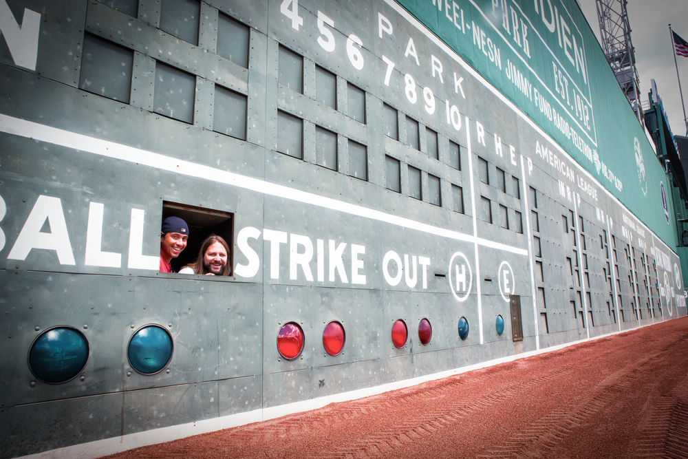 Fenway Park is for (Baseball ) Lovers  I lucked out on this trip to Fenway Park with Jake Peavy as our Tour Guide. Here, after meeting the team (who were all so extremely gracious and down-to-earth) we got to visit inside the Green Monster. My inner 11-year-old-self was hyper-ventilating.  It was especially fun watching them win the championship later that year, since they got waxed by the Yankees that day.