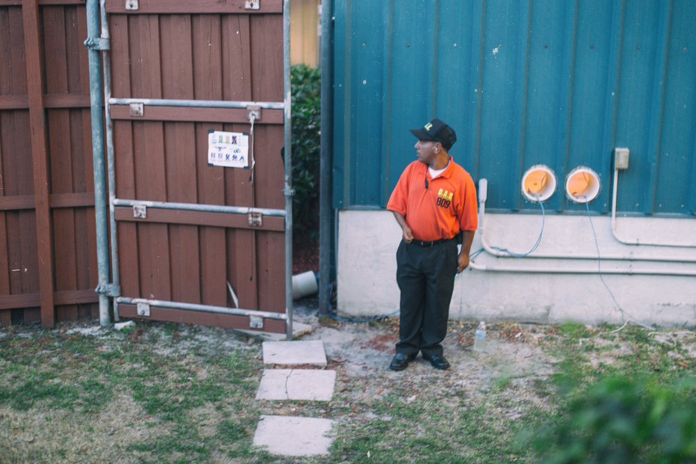 "No passes required  When I first saw this 5' security guard to start the day, I knew I had to get a shot in by the end of the day.  I love the head turn and look of ""I wonder if I was supposed to stop that person."""