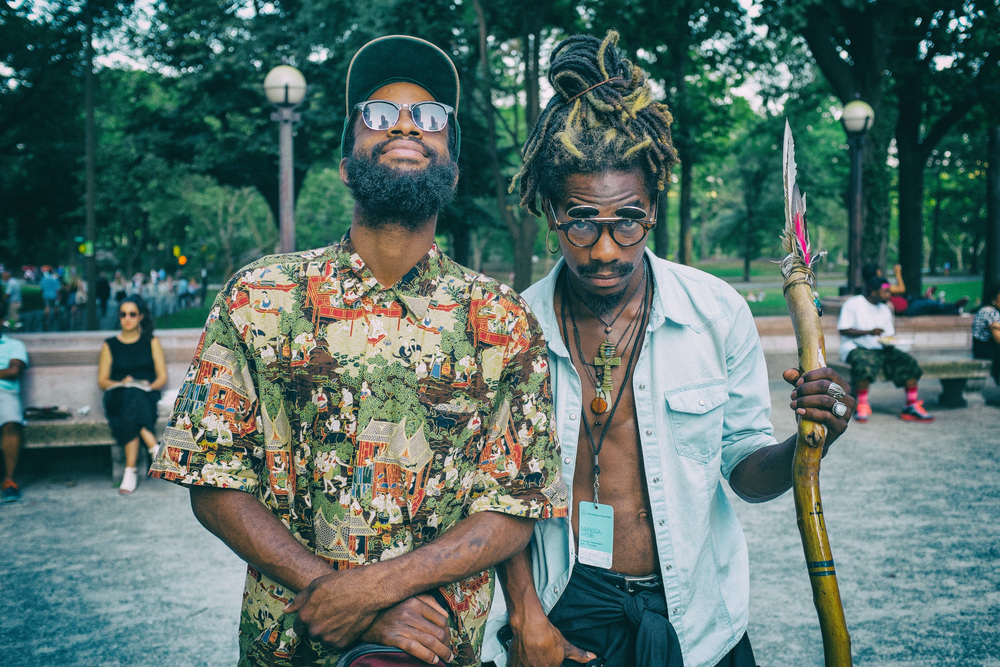 Strike a Pose Here for Fashion week, I noticed these gentlemen outside the park, approached, and took a few portraits. from ATL=instant street cred