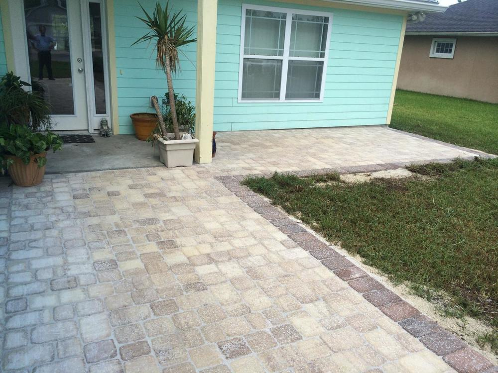 Outdoor paver project - after