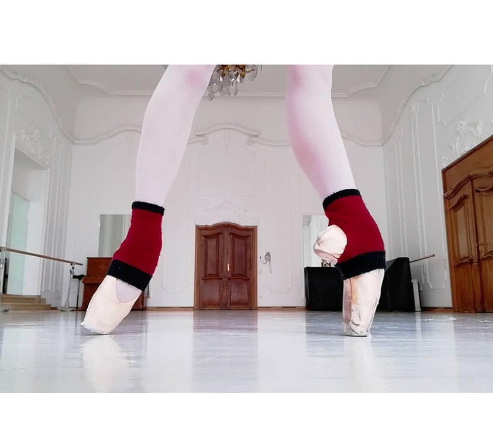 Jeanette Kakareka   in the Tendu Ankle Warmers