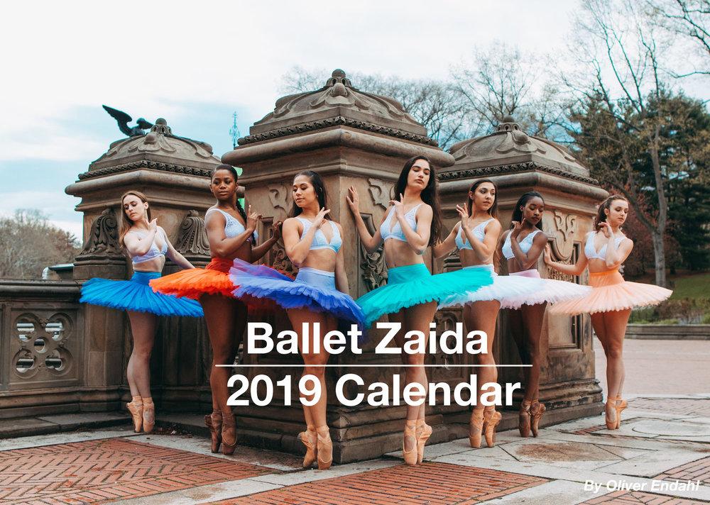 Ballet Zaida 2019 Calendar - Ballet Zaida is an ongoing fine art project created by former ballet dancer, Oliver Endahl. Follow along on Instagram @balletzaida