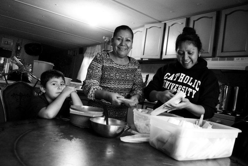 Ruth and Friend Making Tamales