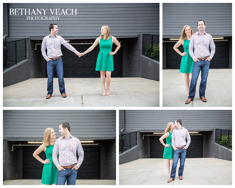 sassy engagement session downtown memphis