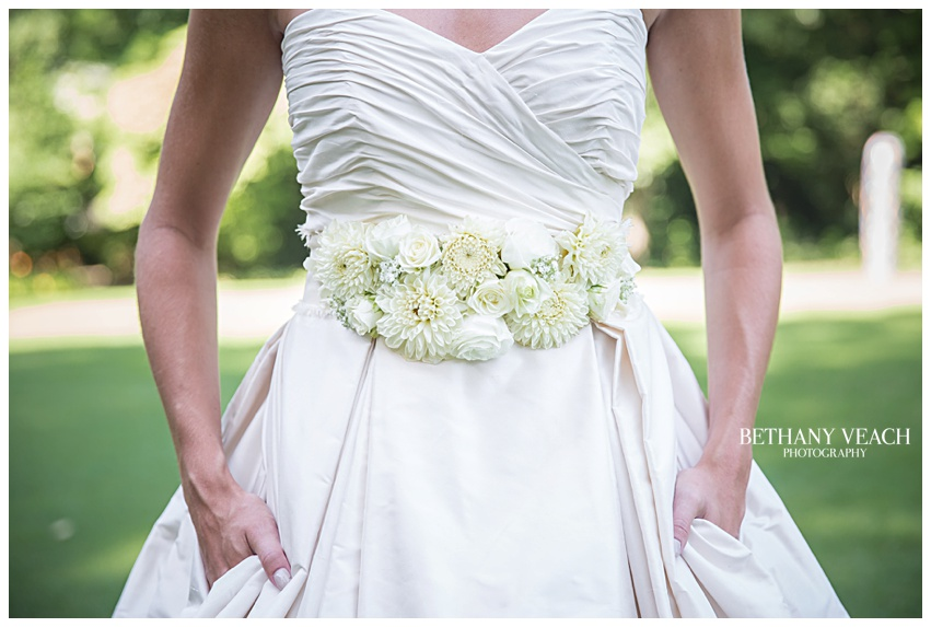 wedding floral belt