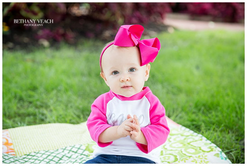 pink bow photography