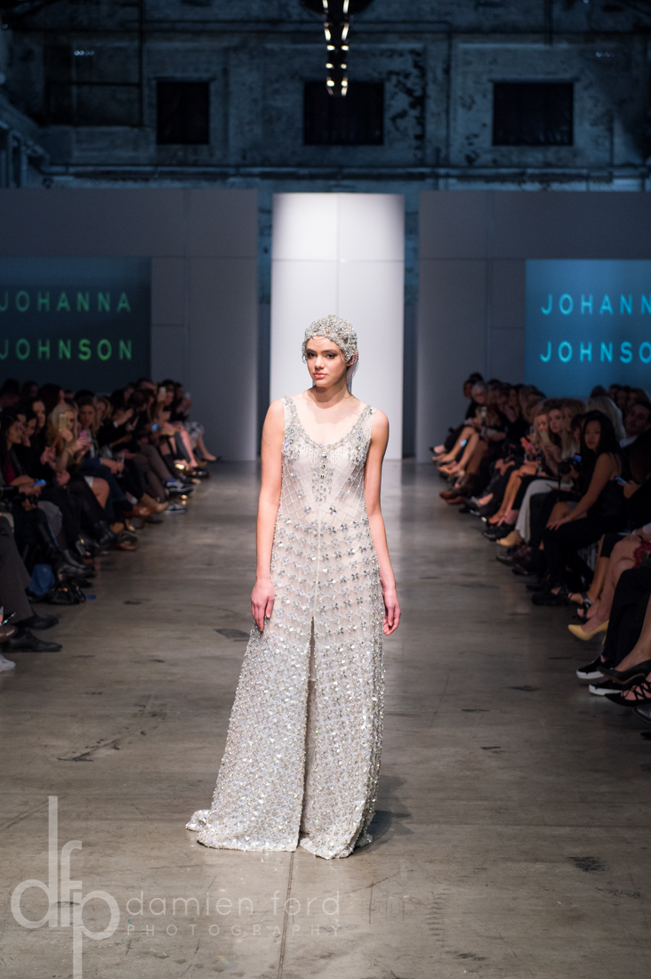 Johanna Johnson on the runway