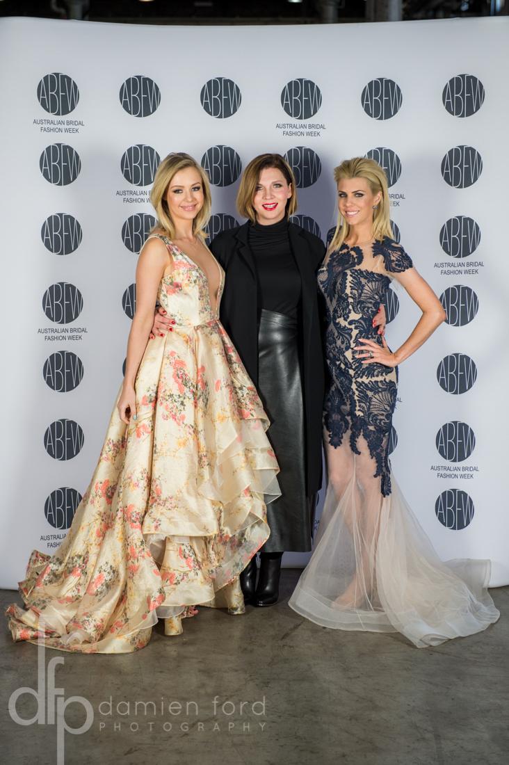 Jessica Turner, Jessica Eckford Aguileraand Tara O'Keefe wearing Leah Da Gloria