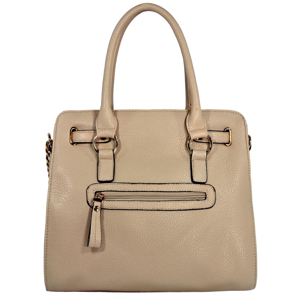HALEY Beige Bowler Style Handbag Back