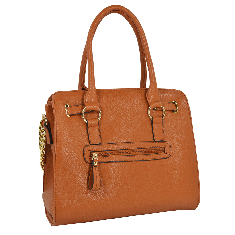 HALEY Brown Bowler Style Handbag Back