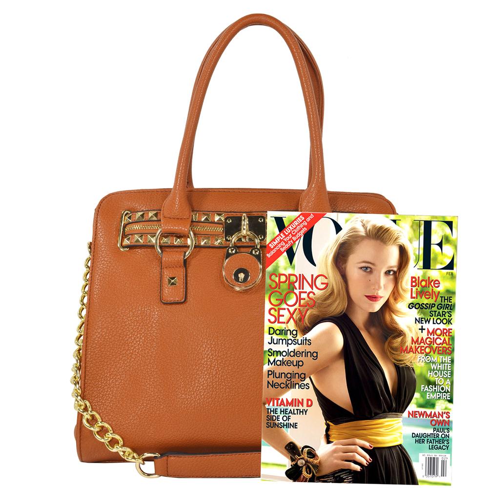 HALEY Brown Bowler Style Handbag Size