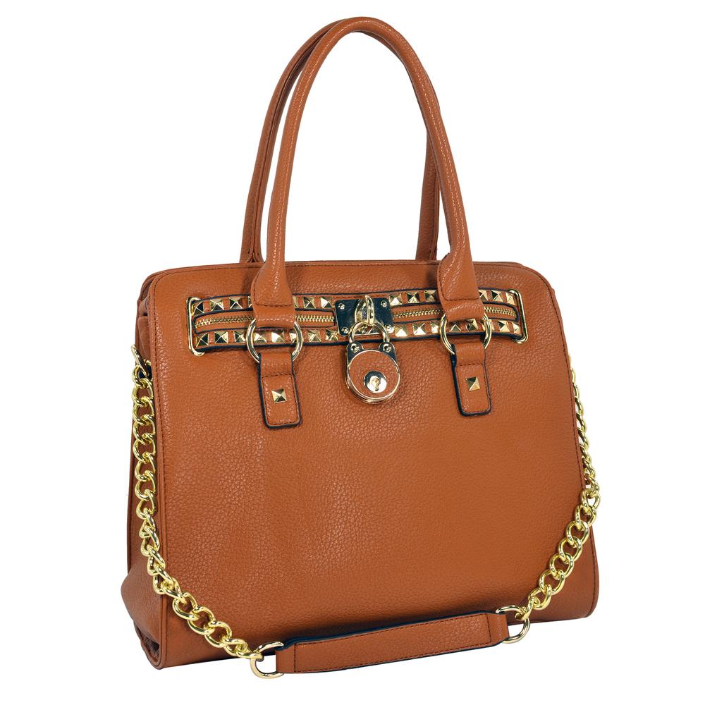 HALEY Brown Bowler Style Handbag main