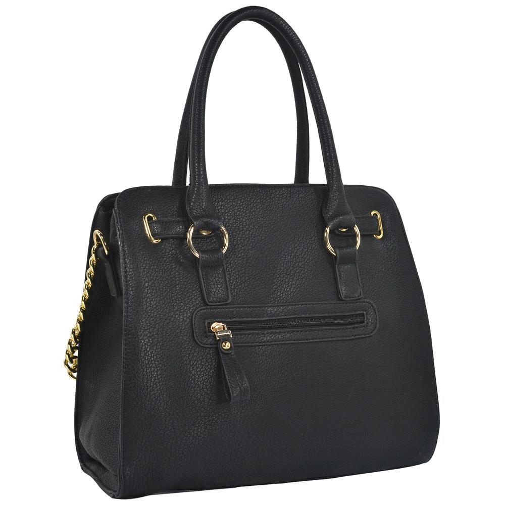 HALEY Black Bowler Style Handbag Back