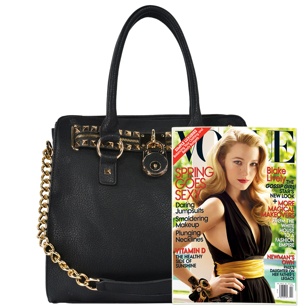 HALEY Black Bowler Style Handbag Size