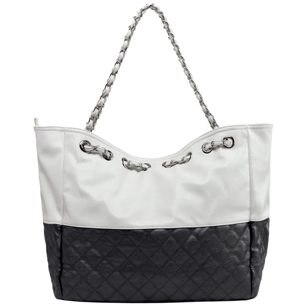 CAMRYN Black Shoulder Weekender Tote Back