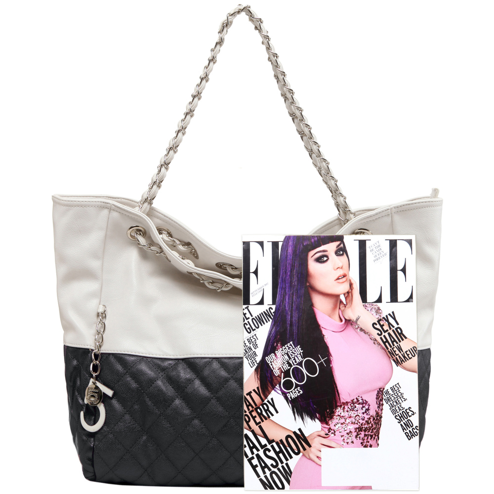 CAMRYN Black Shoulder Weekender Tote Size