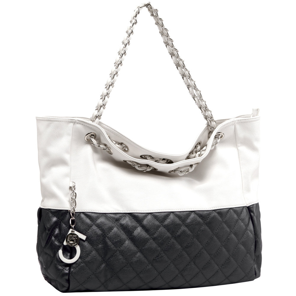 CAMRYN Black Shoulder Weekender Tote Main