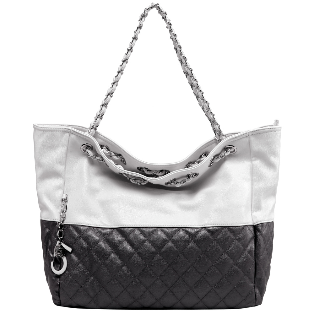 CAMRYN Black Shoulder Weekender Tote Front