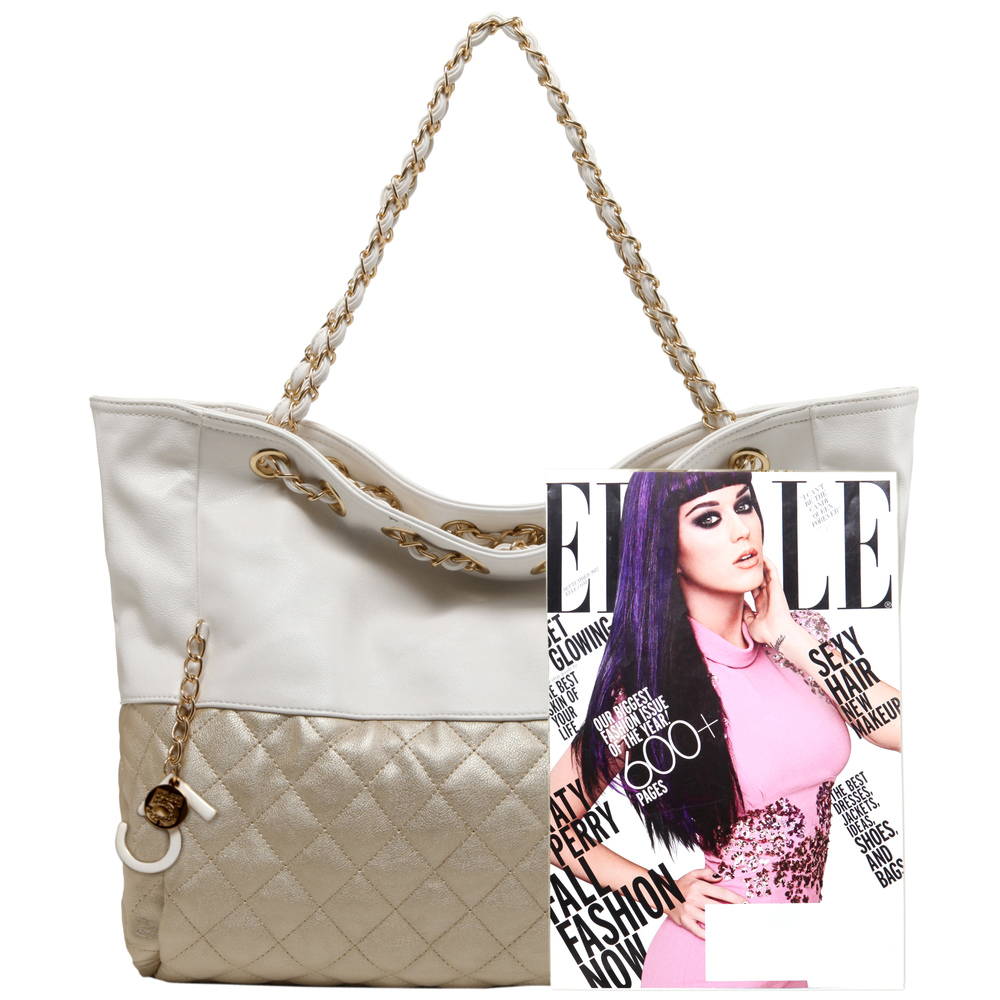 CAMRYN Gold Shoulder Weekender Tote size
