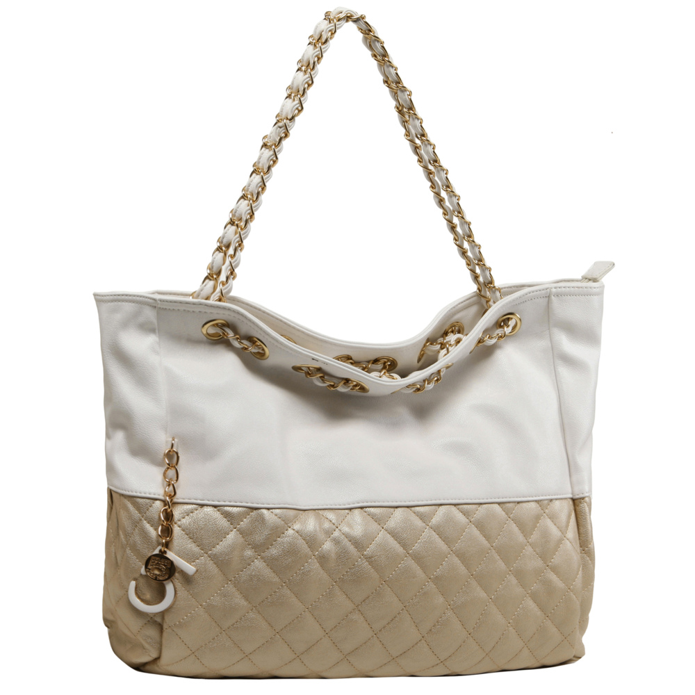 CAMRYN Gold Shoulder Weekender Tote main