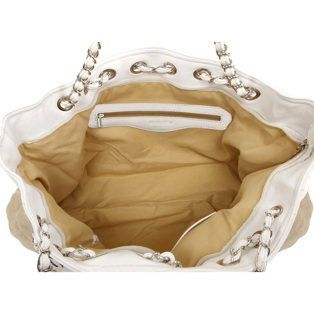 CAMRYN Gold Shoulder Weekender Tote interior