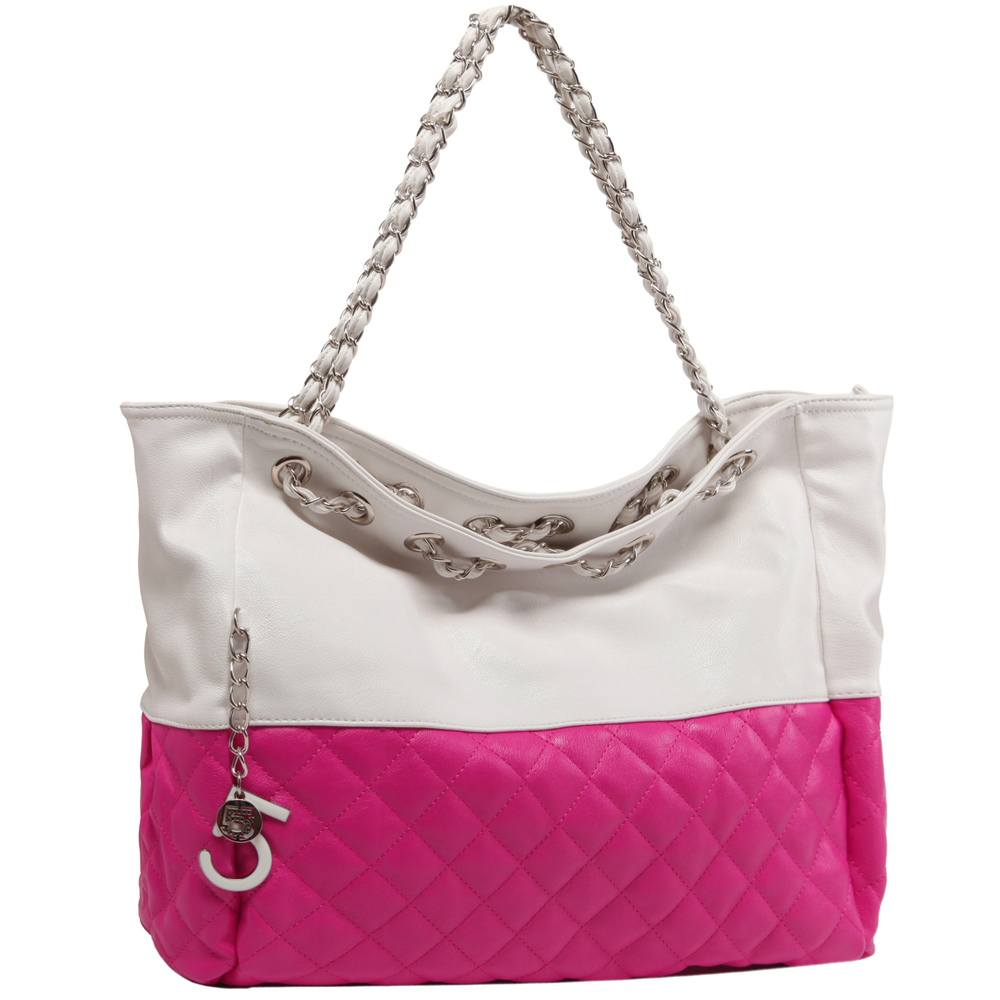 CAMRYN Pink Shoulder Tote Handbag main