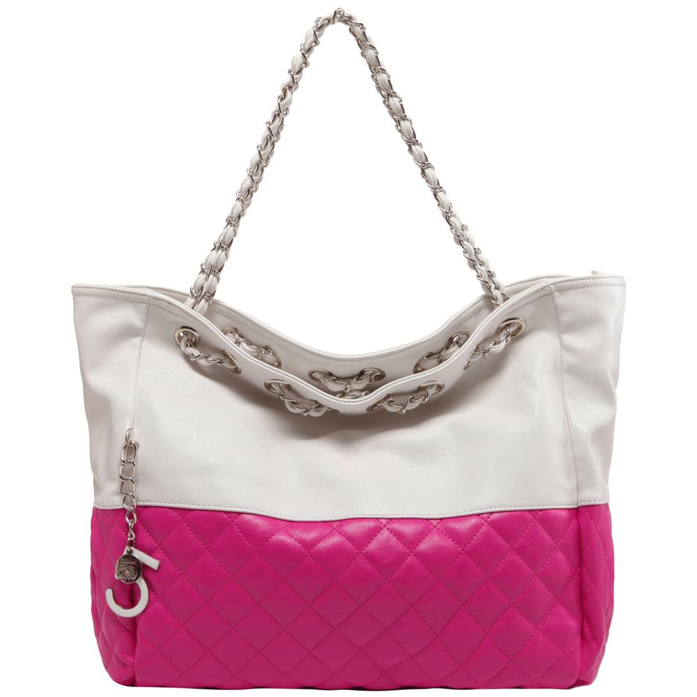CAMRYN Pink Shoulder Tote Handbag Front