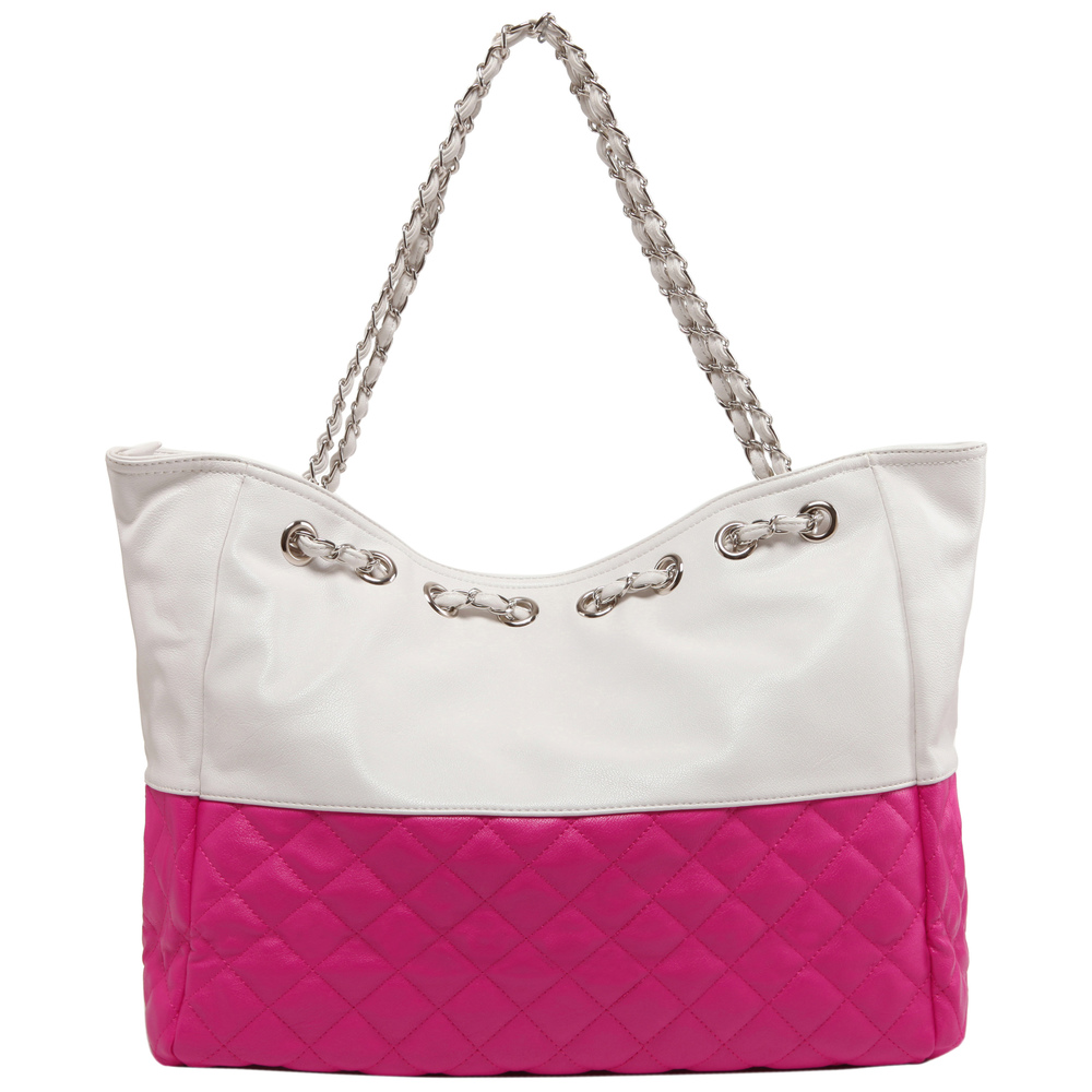 CAMRYN Pink Shoulder Tote Handbag Back