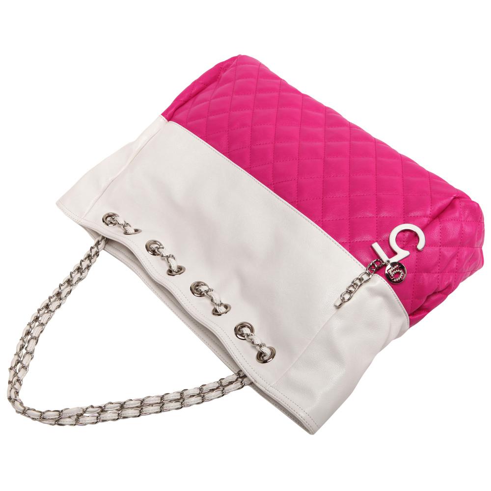 CAMRYN Pink Shoulder Tote Handbag handle