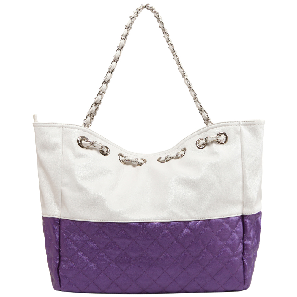 CAMRYN Purple Shoulder Weekender Tote handbag back