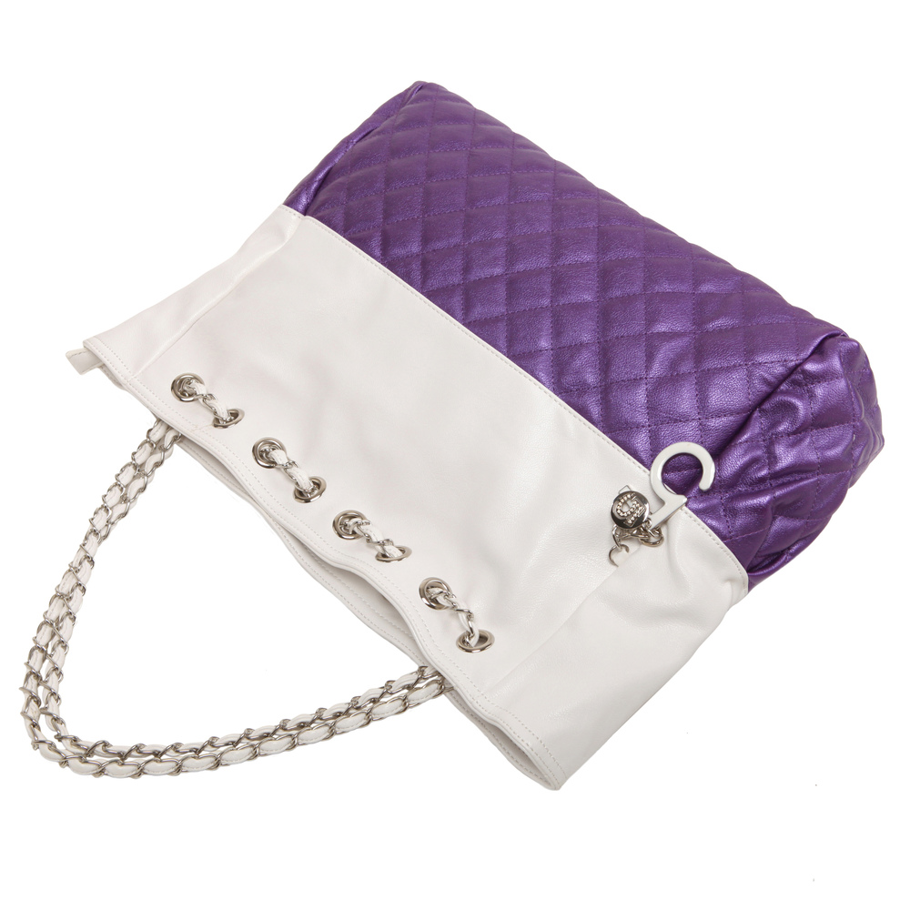 CAMRYN Purple Shoulder Weekender Tote handbag handle