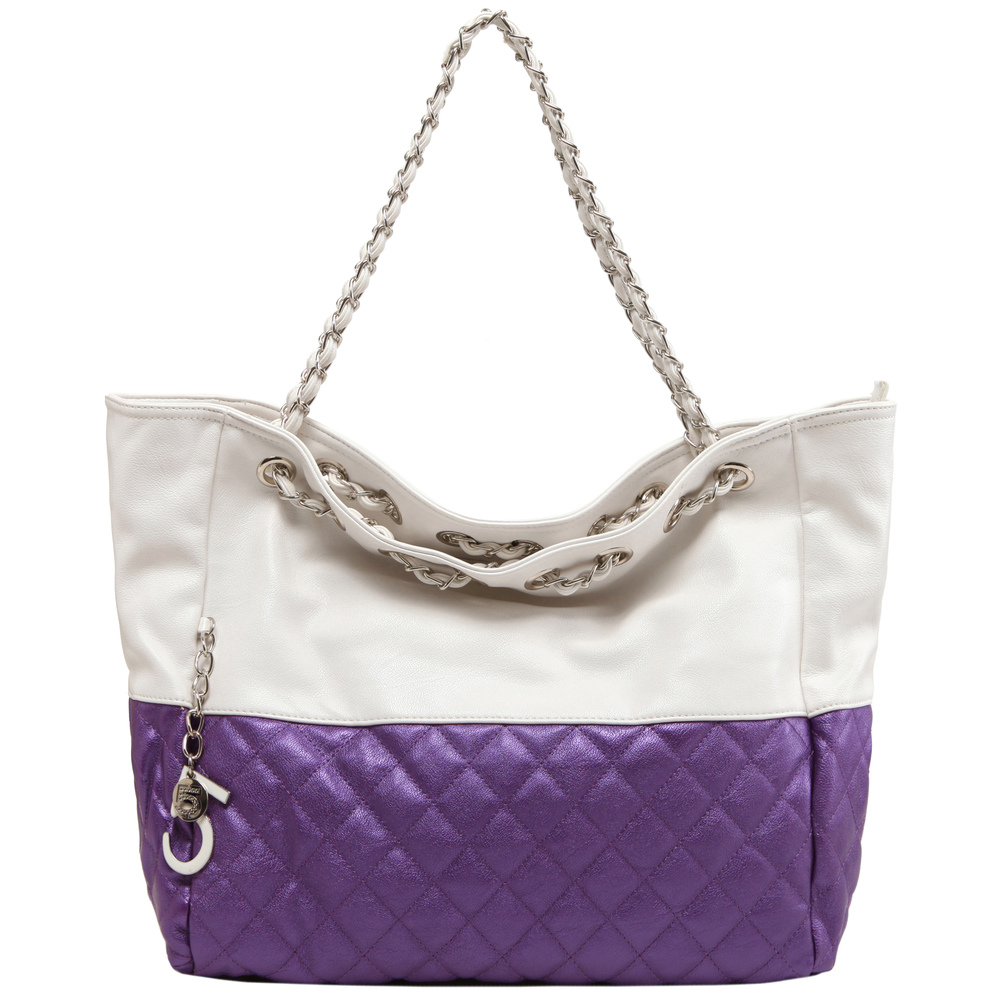 CAMRYN Purple Shoulder Weekender Tote handbag front